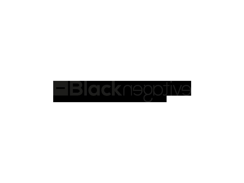 Black Negative refonte logo, projet fictif Roanne Bordeaux loic hermer Graphiste Webdesigner