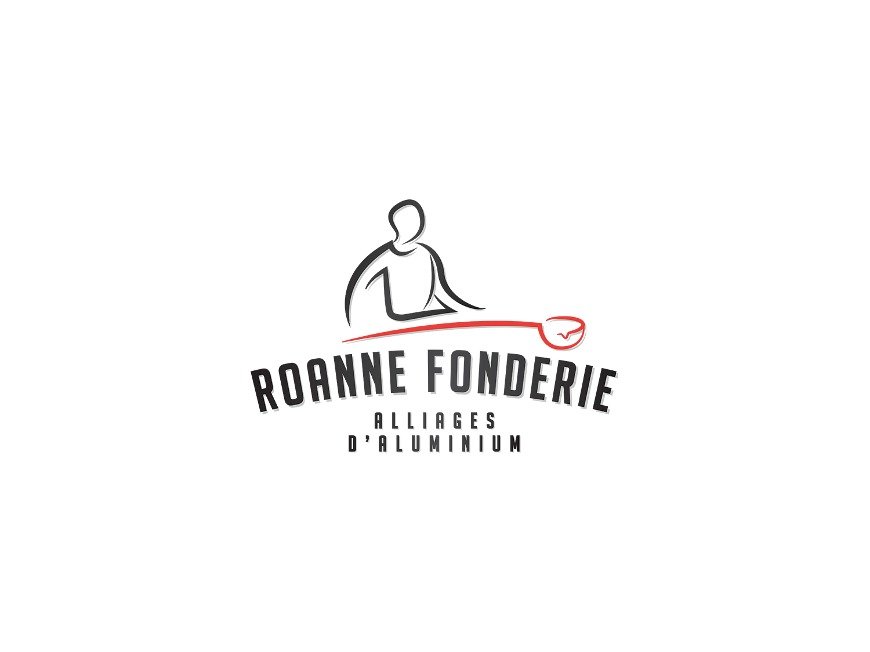 Création de logo Roanne Fonderie Roanne Bordeaux loic hermer Graphiste Webdesigner