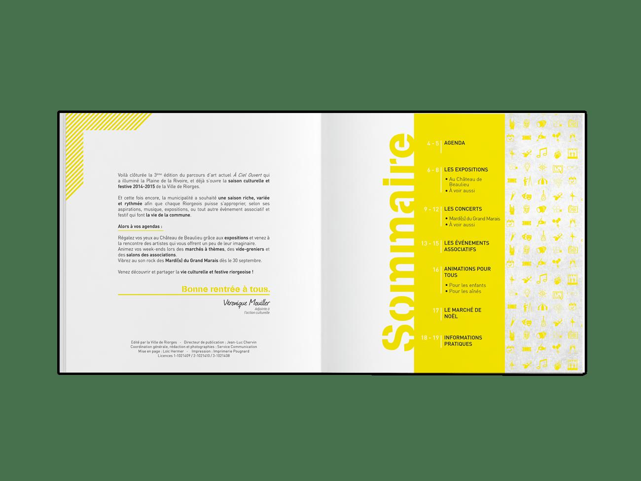 création de brochure Roanne Bordeaux loic hermer Graphiste Webdesigner