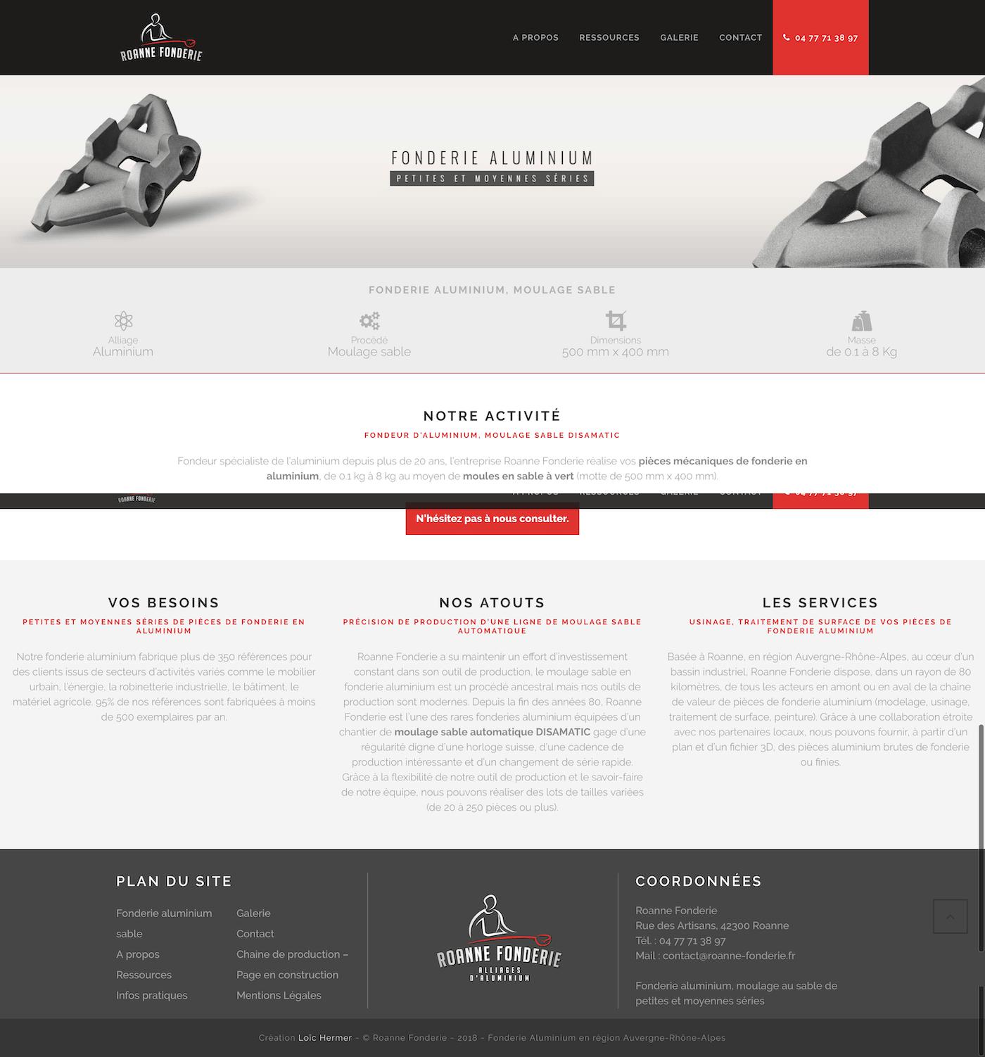 Création site internet Wordpress Roanne Bordeaux loic hermer Graphiste Webdesigner