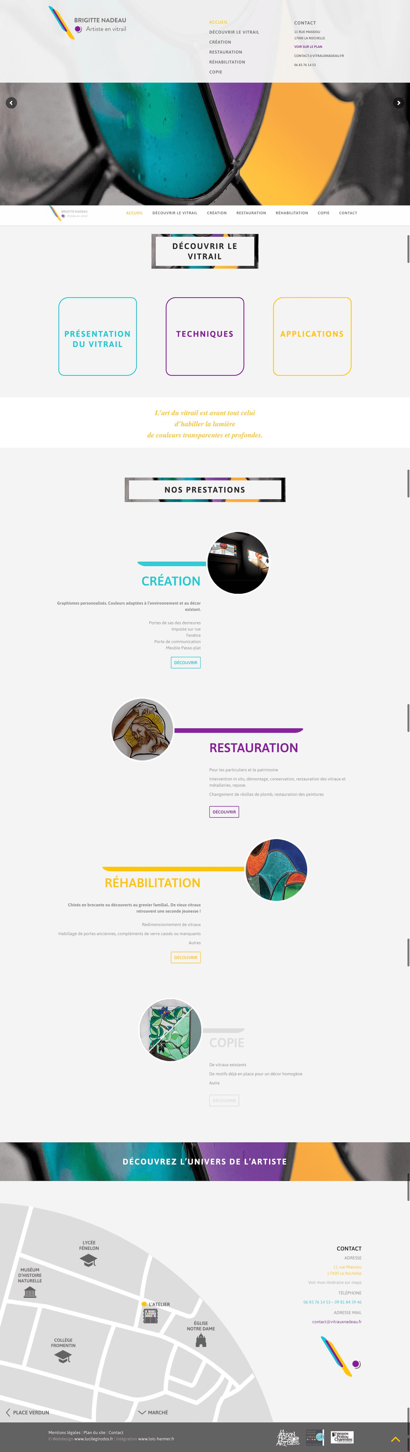 Création Webdesign Roanne Bordeaux loic hermer Graphiste Webdesigner