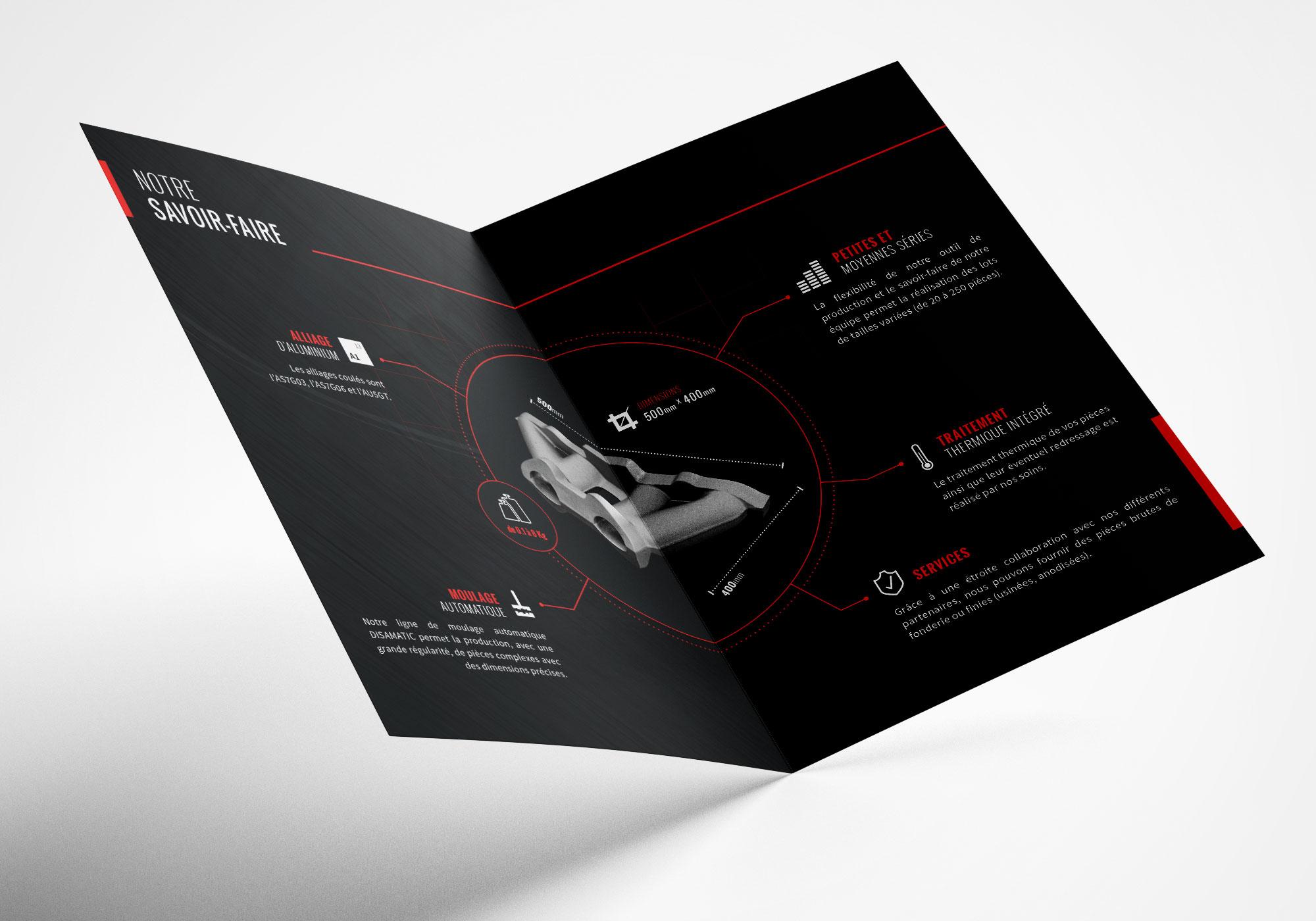 Création plaquette commerciale Roanne fonderie Roanne Bordeaux loic hermer Graphiste Webdesigner