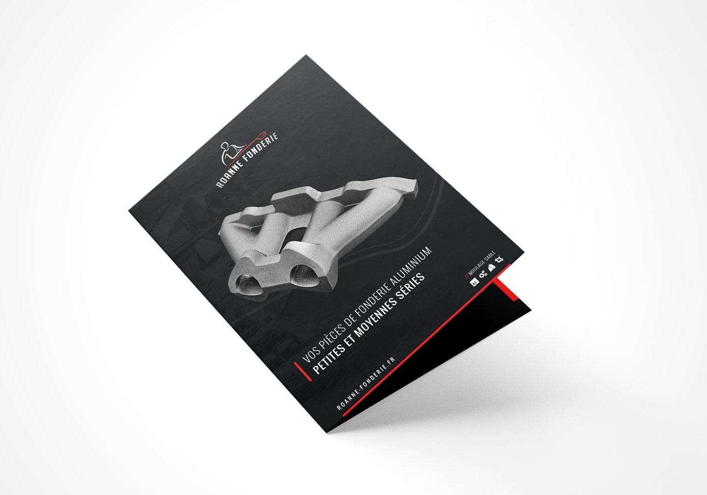 Création de plaquette commerciale Roanne Bordeaux loic hermer Graphiste Webdesigner