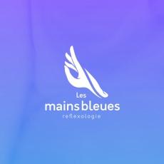 Création de logo les mains bleues loic hermer Graphiste Webdesigner Roanne Bordeaux